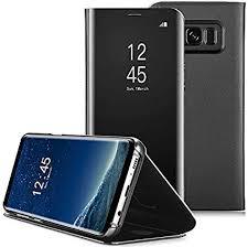 AICase Galaxy S8 <b>Case</b>, Luxury Translucent <b>View Window</b> Sleep ...