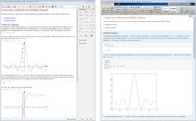 mupad matlab simulink performing analytical integration in the mupad notebook left and in the matlab live editor right
