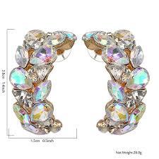 <b>Yhpup Fashion Brand</b> Bling Full Rhinestone <b>Luxury</b> Stud Earrings ...
