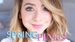 spring pinks makeup look show tell zoella