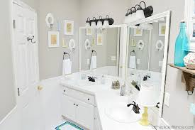 friendly bathroom makeovers ideas: vintage beach inspired kids bathroom makeover atthepicketfencecom