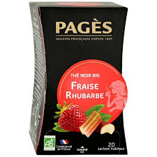 <b>Чай Pages Fraise</b> Rhubarbe Bio <b>черный</b> 20 пакетиков по 1.8 г ...