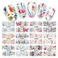 <b>12 Sheets Lot</b> Water Decal Transfer Nail Art Nail Stickers Slider Full ...