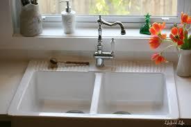bowl ceramic kitchen sink left