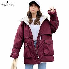 <b>PinkyIsBlack 2020</b> Long Parkas Winter Jacket <b>Women</b> Hooded ...