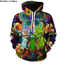 <b>PLstar Cosmos</b> 2018 <b>Fashion</b> Brand 3d hoodies cartoon rick and ...