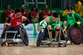 paralympic athletes least favorite word inspiration the new bruno damaceno of center and ayaz bhuta of britain in a wheelchair rugby match para athletes are constantly fighting for exposure and equality