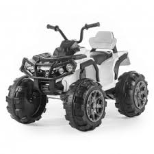 <b>Детский</b> электроквадроцикл <b>BDM Grizzly</b> ATV White 12V с ...