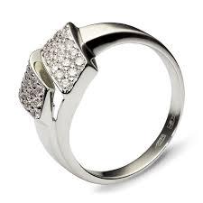 <b>Кольцо с 36 бриллиантами</b> из белого золота 750 пробы ...