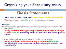 expository tchart  what is expository writing  collaborate  organizing your expository essay thesis statements what does a thesis look like basic organization