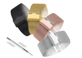 Biżuteria i Zegarki Mesh <b>Milanese</b> Loop Watchbands 14mm <b>18mm</b> ...