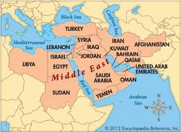 Image result for map middle east