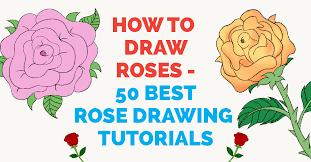 50 Easy Ways to <b>Draw</b> a <b>Rose</b> - Learn How to <b>Draw</b> a <b>Rose</b>