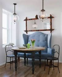 small dining bench: small dining small dining room with high back settee
