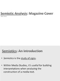 semiotic analysis magazine cover