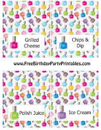 nail polish birthday party printables
