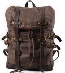 <b>Fashion Backpack</b> Leather Canvas <b>Men Backpack</b> School <b>Bag</b> ...
