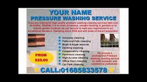 pressure washing services flyer template pressure washing services flyer template