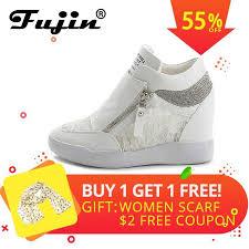 <b>Fujin 2019</b> summer autumn platform wedge heel <b>boots Women</b> ...