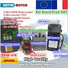 2.2KW ER20 220V <b>Water</b> Cooled CNC Spindle Motor+VFD Inverter+ ...