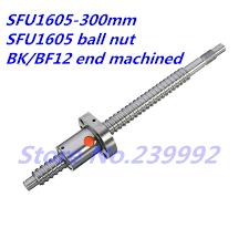 16mm 1605 Ball Screw Rolled C7 <b>ballscrew SFU1605 300mm</b> with ...