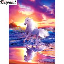"<b>Dispaint Full Square/Round Drill</b> 5D DIY Diamond Painting ""Animal ..."