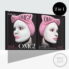 <b>OMG</b>! 2in1 Kit Detox Bubbling Microfiber Mask | <b>DOUBLE DARE</b>