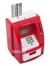<b>Копилка для денег Эврика</b> Банкомат 91911 Red