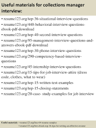 top  collections manager resume samples