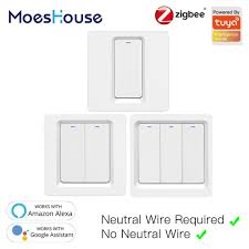 Hot Sale #c7c5 - Tuya Zigbee Smart Switch Push Button Wall Light ...