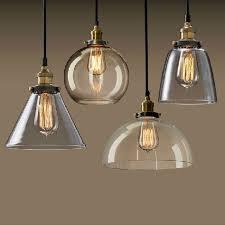 Vetro <b>moderne</b> luci a sospensione industriale edison <b>lampada a</b> ...