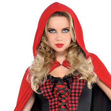Ladies Red Riding <b>Hood</b> Enchantress Fancy Dress <b>Costume</b> Quality ...
