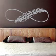<b>YOYOYU</b> Art <b>Vinyl wall sticker</b> Feather Infinity Sign Removeable ...
