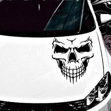 Sansee Reflective Skull <b>Car Stickers</b> Styling Removable <b>Waterproof</b> ...