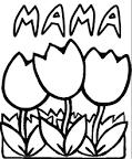 Раскраска малышам цветы
