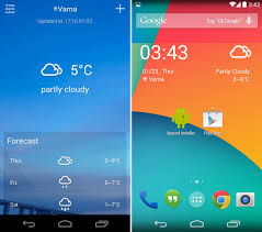 android weather widget Template