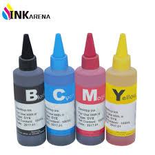 <b>INKARENA</b> Universal <b>4 Color Dye</b> Refill <b>Ink</b> Replacement <b>For</b> HP ...