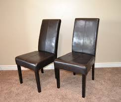 Brown Leather Dining Room Chairs Dining Room Design Lovely Parsons Chairs For Home Furniture Ideas