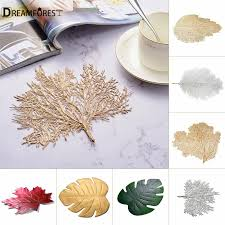 DF <b>PVC</b> EVA Leaf-Shaped Placemat Cup Coaster Hollow Out <b>Heat</b> ...