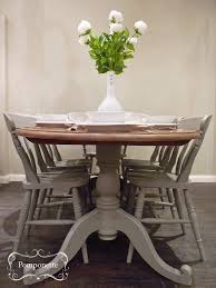 Oval Dining Table And Six Chairs Pedestal Detail Anniesloanhome - Dining room tables oval