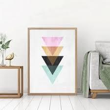 Abstract <b>Landscape</b> Mountain Sunrise <b>Geometric Line</b> Symbols <b>Wall</b> ...