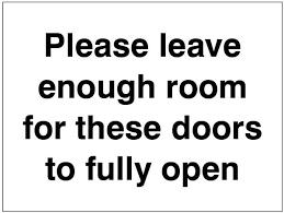 doors fully open p