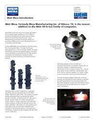 weir mesa introduction weir oil gas pdf catalogue weir mesa introduction 1 1 pages