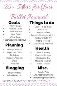 ideas about goal journal diary ideas 75 bullet journal ideas