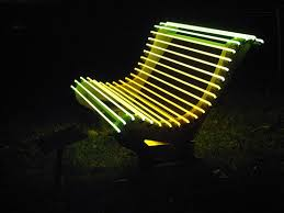 side view of the lighted bench designed by ivan navarro courtney smith bench lighting