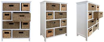 white storage unit wicker:  basket storage statement furniture tetbury white storage cabinet
