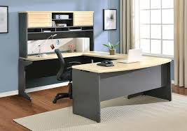 outstanding letter u shaped affordable home office desks which is completed with soft cream colored surface also installed with several wide cabinets upsidejpg amazing office table chairs