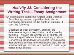 the rhetoric of the op ed page ethos pathos logos ppt activity 28 considering the writing task essay assignment an organization called the animal legal
