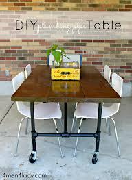 diy plumbing pipe table tutorial black iron pipe table