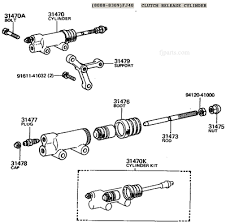 fj  fj  fj  and fj  clutch slave cylinder illustration diagram    fj  clutch slave cylinder diagram